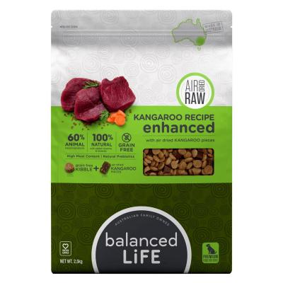 Balanced Life Enhanced Grain Free With Air Dried Kangaroo Adult Dry Dog Food 2.5kg