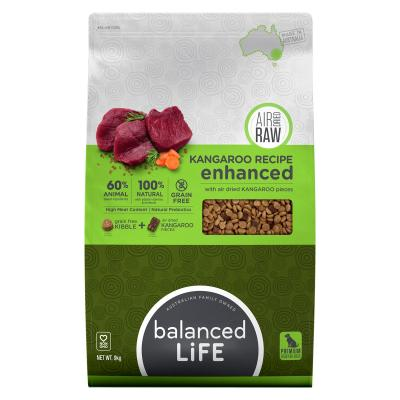 Balanced Life Enhanced Grain Free With Air Dried Kangaroo Adult Dry Dog Food 9kg