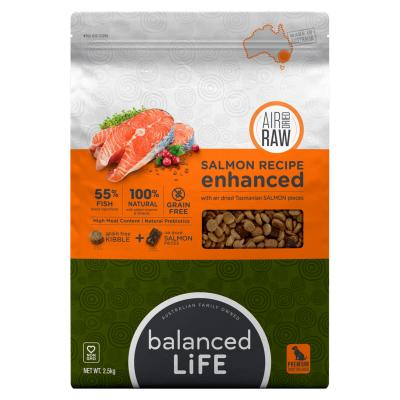Balanced Life Enhanced Grain Free With Air Dried Tasmanian Salmon Adult Dry Dog Food 2.5kg