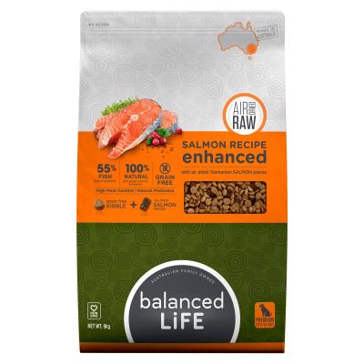 Balanced Life Enhanced Grain Free With Air Dried Tasmanian Salmon Adult Dry Dog Food 9kg