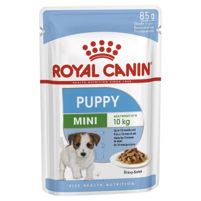 Royal Canin Mini Puppy In Gravy Pouches Wet Dog Food 12 x 85g