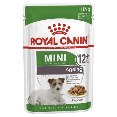 Royal Canin Mini Ageing In Gravy Pouches Wet Dog Food 12 x 85g