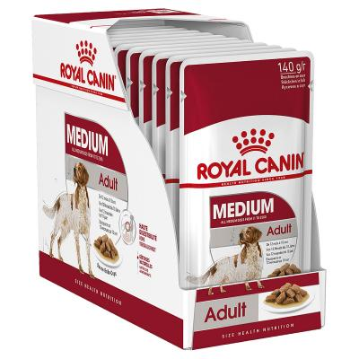 Royal Canin Medium Adult In Sauce Pouches Wet Dog Food 10 x 140g