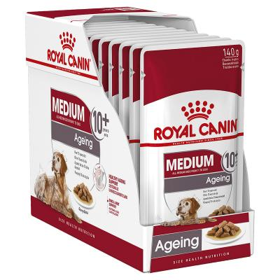 Royal Canin Medium Ageing 10+ Years Loaf Pouches Wet Dog Food 10 x 140g