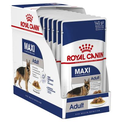 Royal Canin Maxi Adult In Gravy Pouches Wet Dog Food 10 x 140g