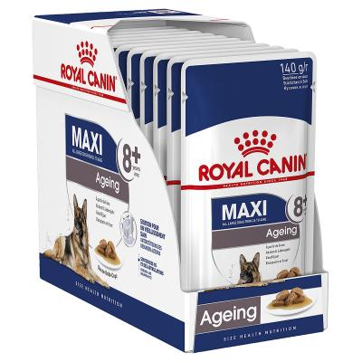 Royal Canin Maxi Ageing 8+ Years Loaf Pouches Wet Dog Food 10 x 140g
