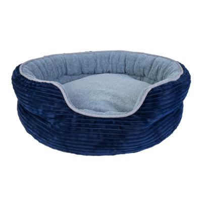 Yours Droolly Osteo Indoor Round Blue Medium Bed For Dogs
