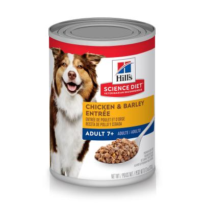 Hills Science Diet Chicken And Barley Entree 7+ Mature/Senior Canned Wet Dog Food 370gm x 12 (7055)
