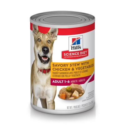 Hills Science Diet Savoury Stew With Chicken And Vegetable Adult Canned Wet Dog Food 363gm x 12  (1430)