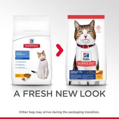 Hills Science Diet Active Longevity Chicken Recipe 7+ Mature/Senior Dry Cat Food 6kg (6500HG)