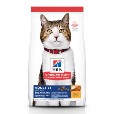 Hills Science Diet Chicken Recipe 7+ Mature/Senior Dry Cat Food 6kg (6500HG)
