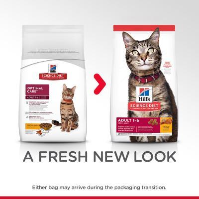 Hills Science Diet Optimal Care Chicken Recipe Adult Dry Cat Food 6kg  (6496HG)