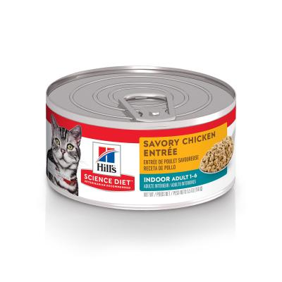 Hills Science Diet Indoor Savoury Chicken Entree Adult Canned Wet Cat Food 156gm x 24 (6109)