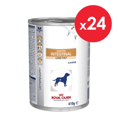 Royal Canin Veterinary Diet Canine Gastro Intestinal Low Fat Cans For Dog 410gm x 24