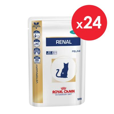 Royal Canin Veterinary Diet Feline Renal Tuna Pouch Wet Cat Food 85gm x 24