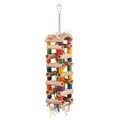 Kazoo Wooden Play Tower With Sisal Rope And Beads Large Toy For Birds