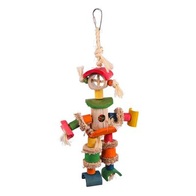 Kazoo Hanging Man With Sisal Rope And Chips Medium Toy For Birds