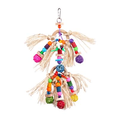 Kazoo Hanging Toy With Sisal Rope And Balls Large For Birds