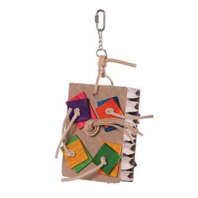 Kazoo Cardboard Activity Board Medium Toy For Birds