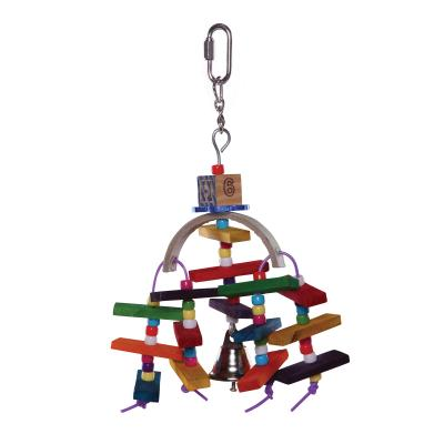 Kazoo Natural Wooden Rainbow Bell Toy Small For Birds