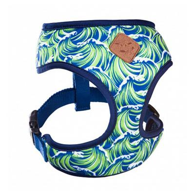Kazoo Funky Soft Walking Harness Waves Medium 46cm Neck x 58-82cm Girth For Dogs