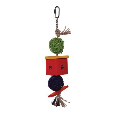 Kazoo Twin Ball And Cardboard Foraging Small Bell Toy For Birds