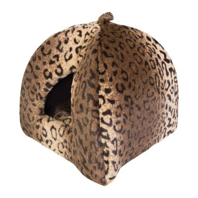 Trouble & Trix Cat Igloo Leopard Bed For Cats
