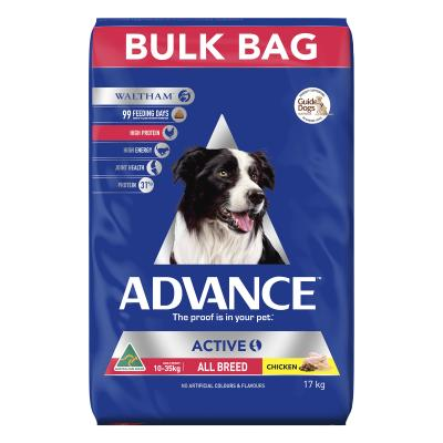Advance Active All Breed Chicken Adult Dry Dog Food 17kg