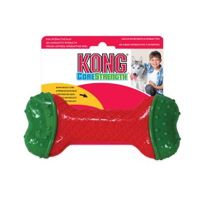KONG Holiday Christmas CoreStrength Bone Toy For Dogs