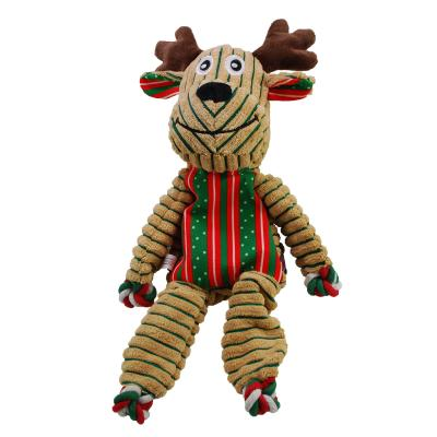 KONG Holiday Christmas Floppy Knots Reindeer Large Squeak Toy For Dogs