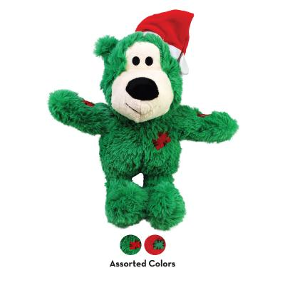 KONG Holiday Christmas Santa Wild Knots Bear Assorted Colours Small/Medium Toy For Dogs