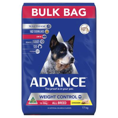 Advance Weight Control All Breed Chicken Adult Dry Dog Food 17kg