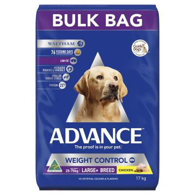 Advance Weight Control Large Breed Chicken Adult Dry Dog Food 17kg
