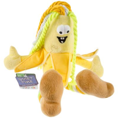 Vitapet Surprise Groovy Moose Or Banana Soft Rope Toy For Dogs