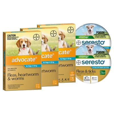 Advocate And Seresto For Small Dogs 4-8kg - 8 Month Protection Pack