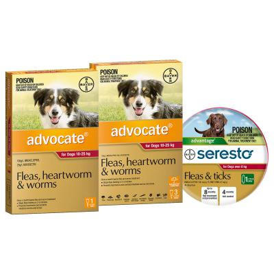 Advocate And Seresto For Large Dogs 10-25kg - 4 Month Protection Pack