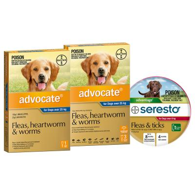 Advocate And Seresto For XLarge Dogs Over 25kg - 4 Month Protection Pack