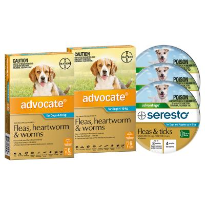 Advocate And Seresto For Small Dogs 4-8kg - 12 Month Protection Pack