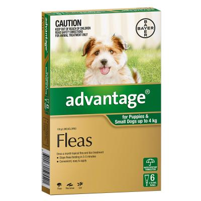 Advantage For Dogs Up To 4kg 6 Pack SHORT EXPIRY 12/19