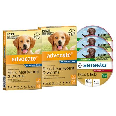 Advocate And Seresto For XLarge Dogs Over 25kg - 12 Month Protection Pack