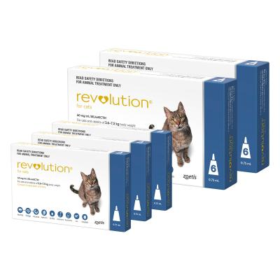 Revolution For Cats 2.6-7.5kg Blue 15 Pack