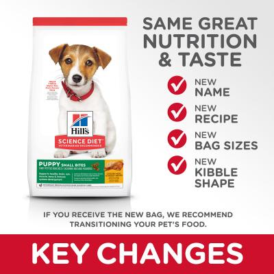 Hills Science Diet Healthy Development Chicken Meal And Barley Recipe Small Bites Puppy Dry Dog Food 2kg     (10348HG)