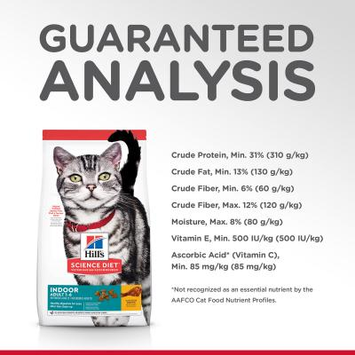 Hills Science Diet Indoor Chicken Recipe Adult Dry Cat Food 8kg