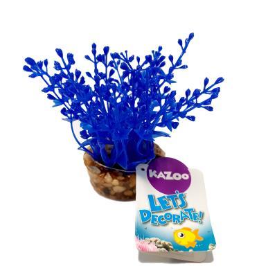Kazoo Aquarium Fish Tank Single Plastic Plant Ball Tip Leaf Mini Assorted Colours