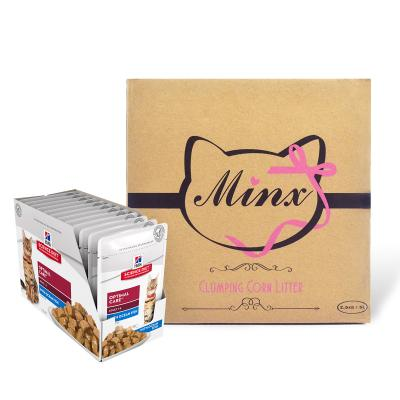 Minx Clumping Corn Cat Litter 1 Month Supply 2.5kg* With Hills Science Diet Optimal Care Ocean Fish Adult Pouches Wet Cat Food 85gm x 12