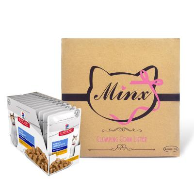 Minx Clumping Corn Cat Litter 1 Month Supply 2.5kg* With Hills Science Diet Active Longevity Chicken Mature/Senior Pouches Wet Cat Food 85gm x 12