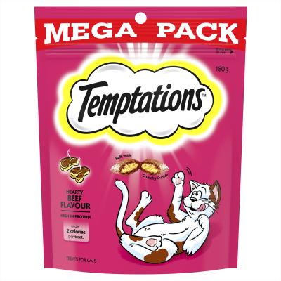 Temptations Hearty Beef Treats For Cats 180gm