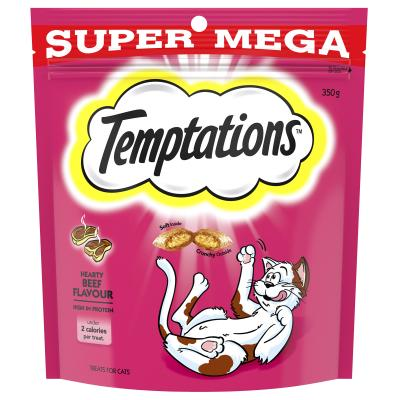 Temptations Hearty Beef Treats For Cats 350gm