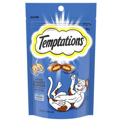Temptations Savoury Salmon Treats For Cats 85gm