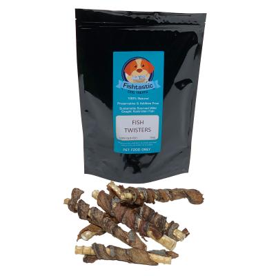 Fishtastic Dried Fish Twister Cartilage Treats For Dogs 1kg